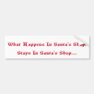 Santa's Shop Bumper Sticker