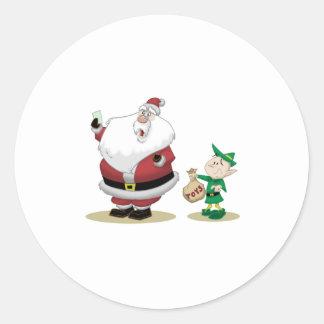 Santa's Short List Classic Round Sticker