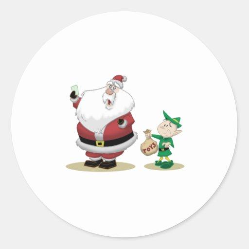 Santa's Short List Sticker