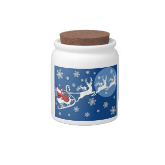 Santa's Sleigh and Reindeer Candy Dish