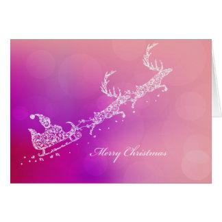 Santa's Sleigh and Reindeer Greeting Cards