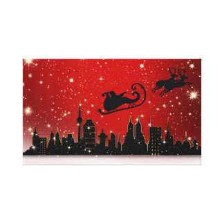 Santa's Sleigh Canvas Print