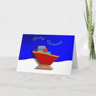 Santas Sleigh Christmas card