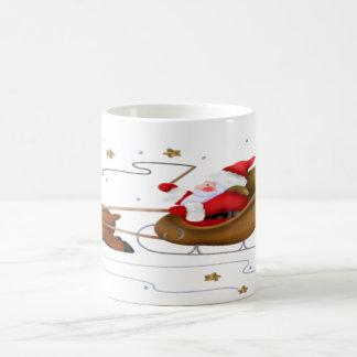 Santa's Sleigh - Classic White Mug