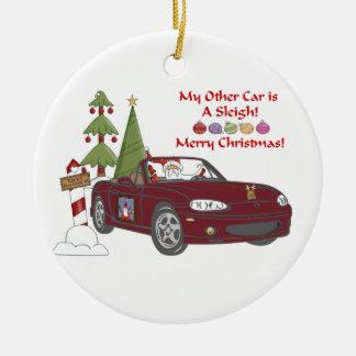 Santa's Sleigh-Copper Ornament