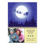 Santa's Sleigh Custom Family Holiday Card (ivory) Personalized Invitations