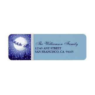 Santa's Sleigh Holiday Address Labels (blue)