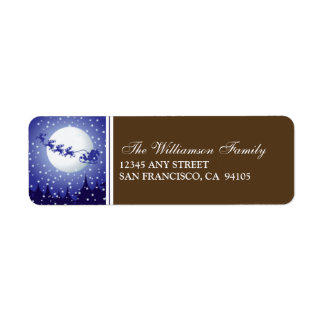 Santa's Sleigh Holiday Address Labels (brown)