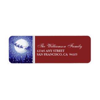 Santa's Sleigh Holiday Address Labels (red)