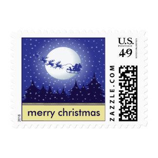 Santa's Sleigh Holiday Postage (ivory)