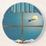 Santa's Sleigh in Moonlight Coaster