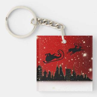 Santa's Sleigh Keychain