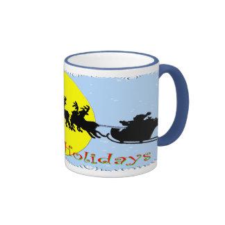 Santa's Sleigh Ringer Coffee Mug