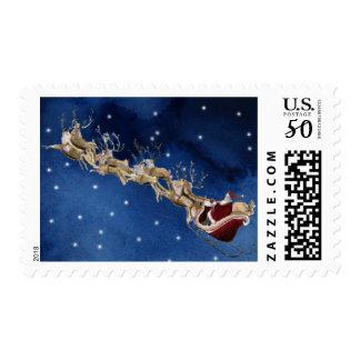 Santa's Sleigh Postage