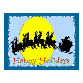 Santa's Sleigh Postcard