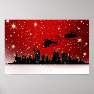 Santa's Sleigh Print