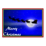 Santa's Sleigh Ride Large Business Cards (Pack Of 100)