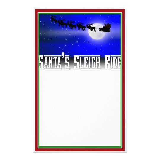 Santa's Sleigh Ride Christmas Stationery