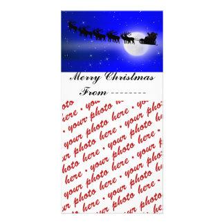 Santa's Sleigh Ride Photo Frame Card