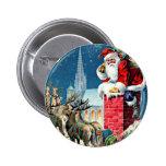 Santa's Sleigh Ride Pinback Button