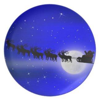 Santa's Sleigh Ride Plates