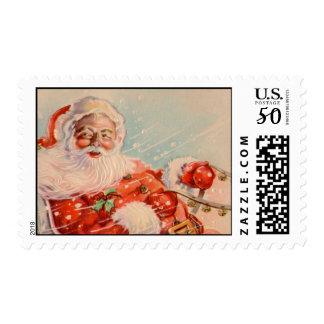 Santas Sleigh Ride Postage Stamp