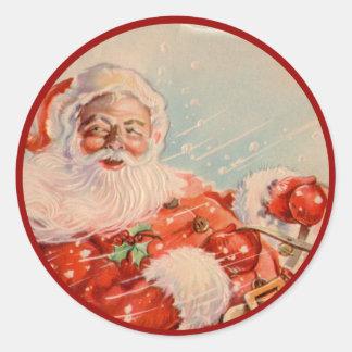 Santas Sleigh Ride Sticker