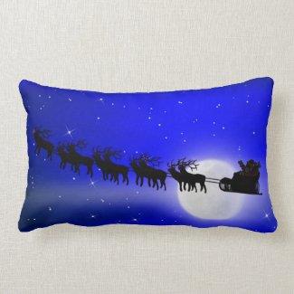 Santa's Sleigh Ride Throw Pillow