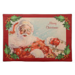 Santas Sleigh Ride Vintage Christmas Placemat