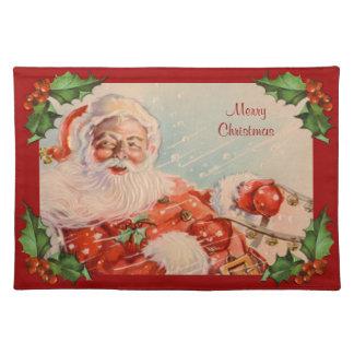 Santas Sleigh Ride Vintage Christmas Placemat