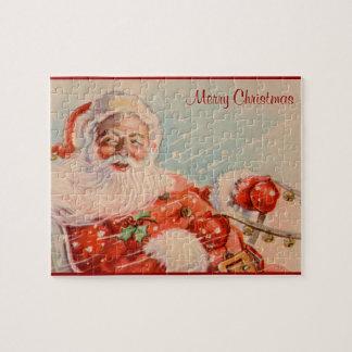 Santas Sleigh Ride Vintage Christmas Puzzle