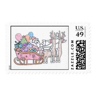 Santas Sleigh Stamps