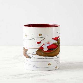 Santa's Sleigh - Two-Tone Mug