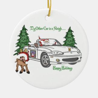 Santa's Sleigh-White Christmas Tree Ornaments