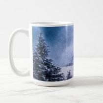 Santas Sleigh with Reindeer in Snow Christmas Mug