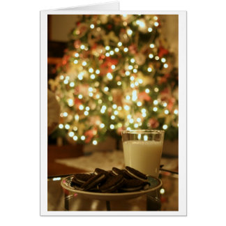 Santa's Snack Christmas Card