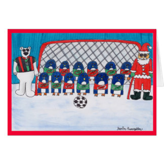 Santa's Soccer Team Greeting Card