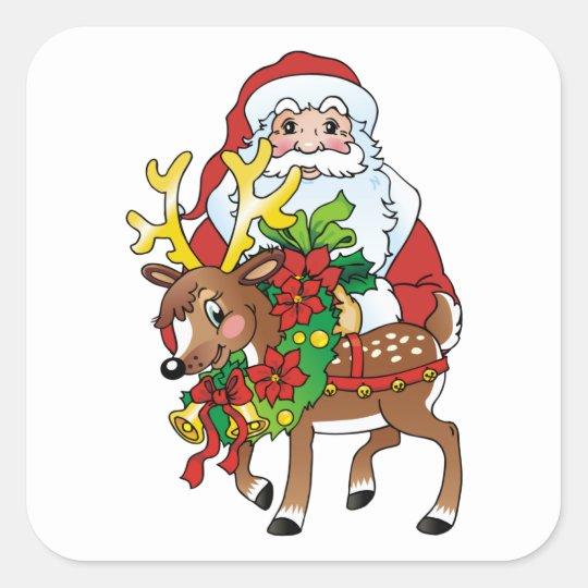 Santas Square Sticker