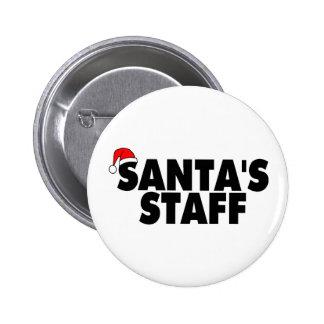 Santas Staff Pinback Button