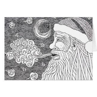Santa's Starry Night Card