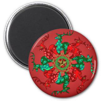 Santa's Stars Magnet Red