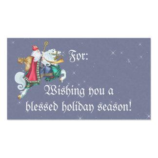 Santa's Steed Gift Tag Business Card