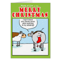 Santas Stocking Card
