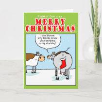 Santas Stocking Holiday Card