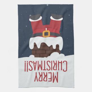 Santa's Stuck in the Chimney Towel