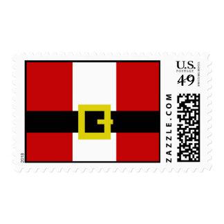 Santa's Suit Postage Stamps