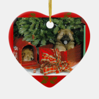 Santa's Surprise Ceramic Ornament