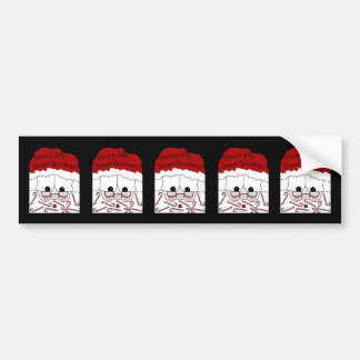Santa's Sweet Cheeks-Candy Cane Beard Bumper Sticker
