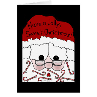 Santa's Sweet Cheeks-Candy Cane Beard Card
