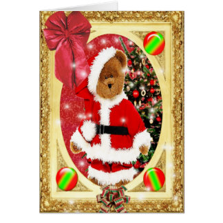 Santas Teddy Card